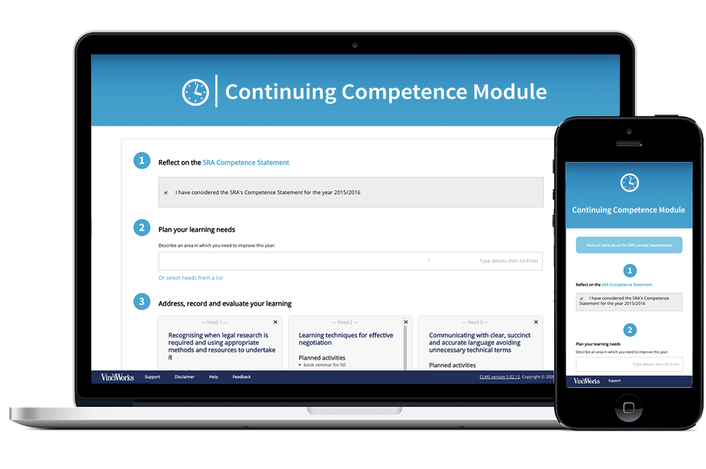 Continuing competence module for SRA changes to CPD