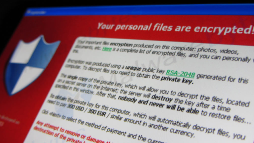 Example of ransomware
