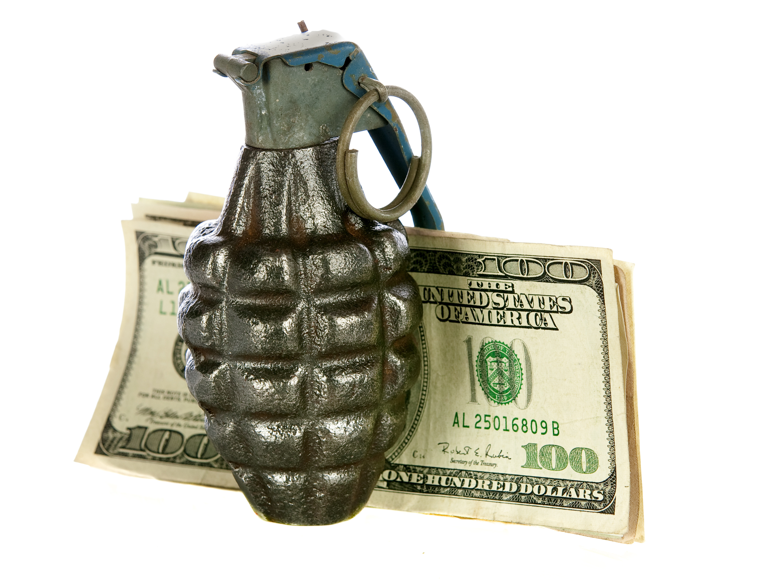 Grenade and money