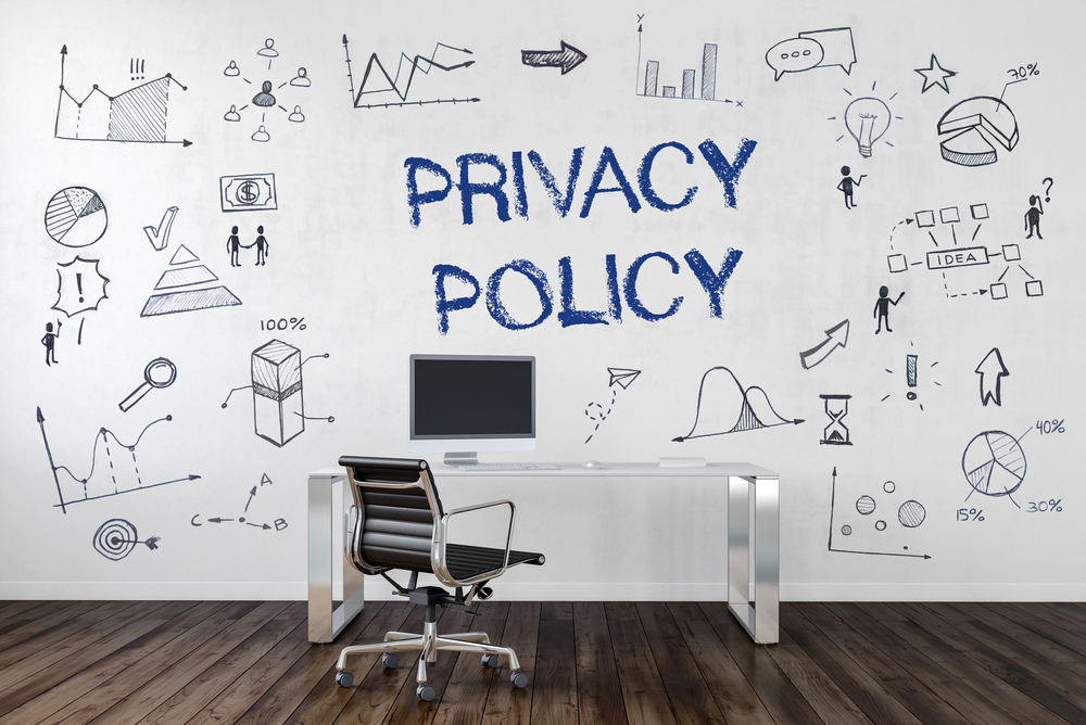 Privacy Policy written on a wall