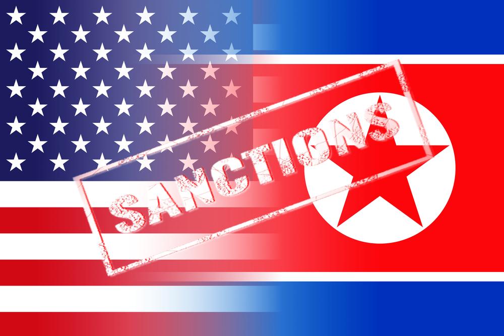 North Korea and USA Flag