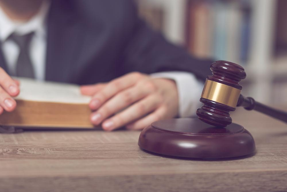 Judge sitting at his desk