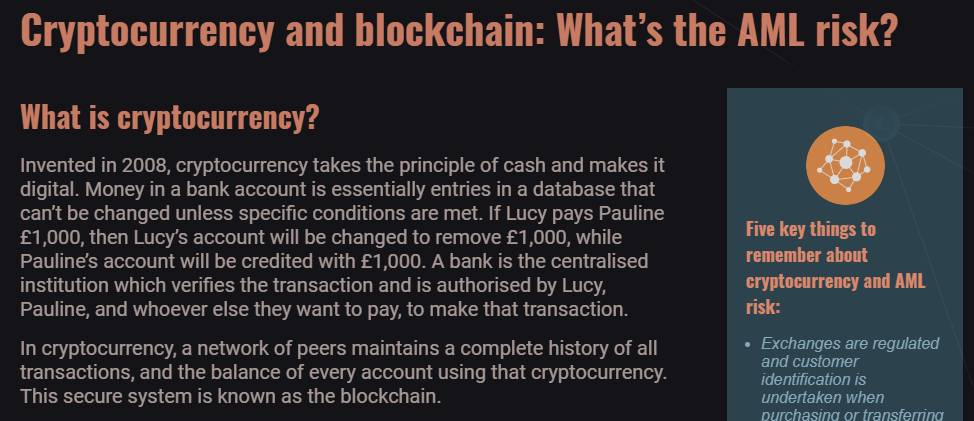 Screenshot from Cryptocurrency module