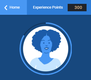Screenshot of a user gaining experience points
