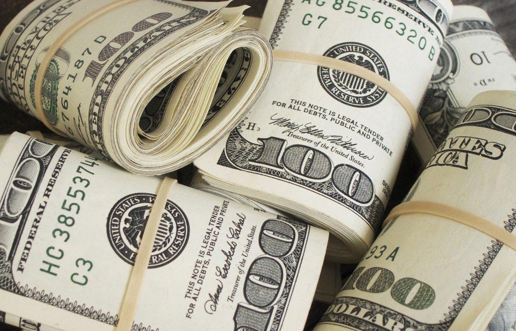 Several rolls of US dollars