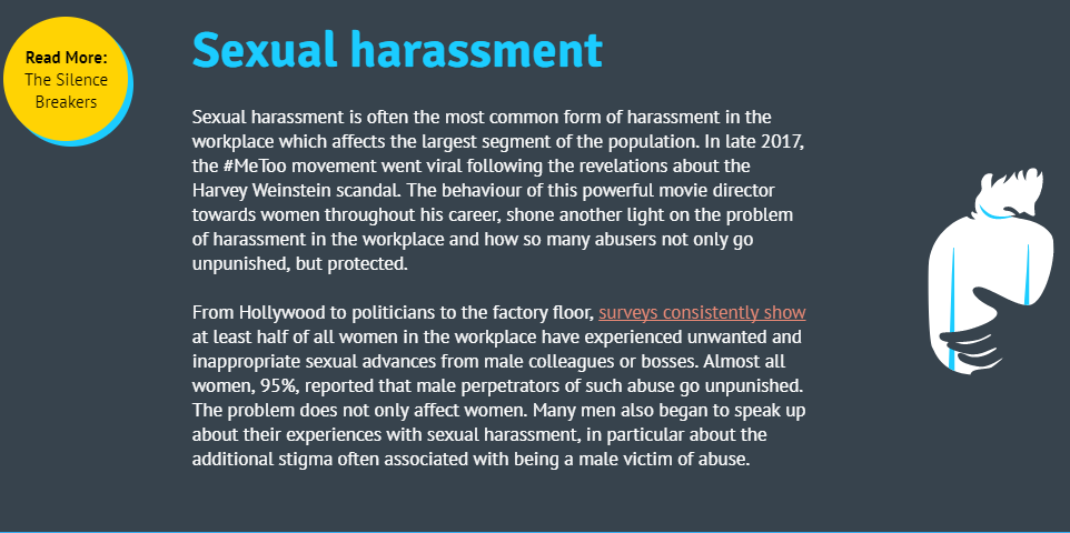 Screenshot of sexual harassment section of diversity course