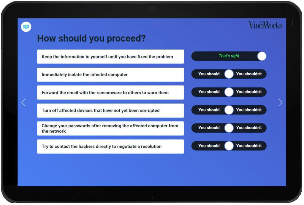 Ransomware mini course screenshot