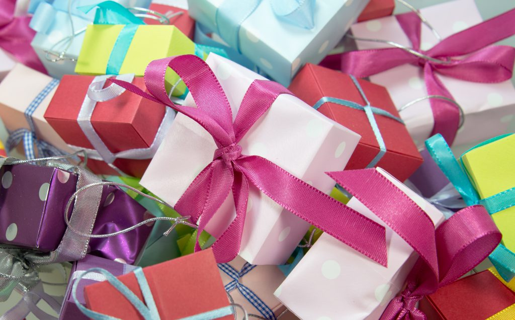 A big pile of gifts