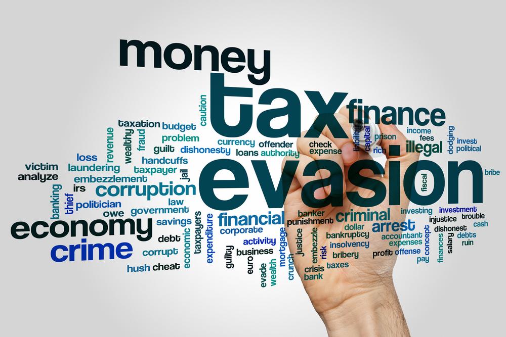 Tax evasion banner