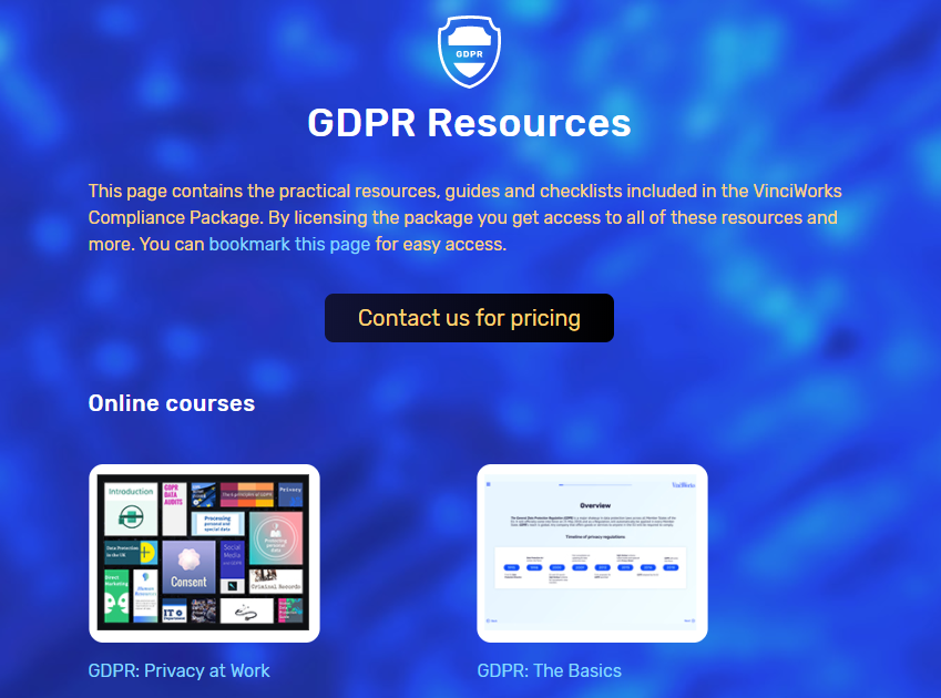 The GDPR resource page