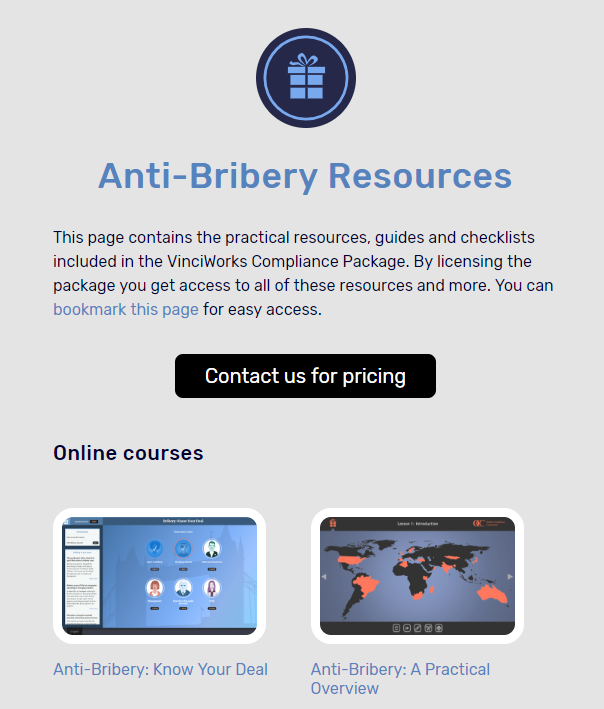 A-bery resource page screenshot