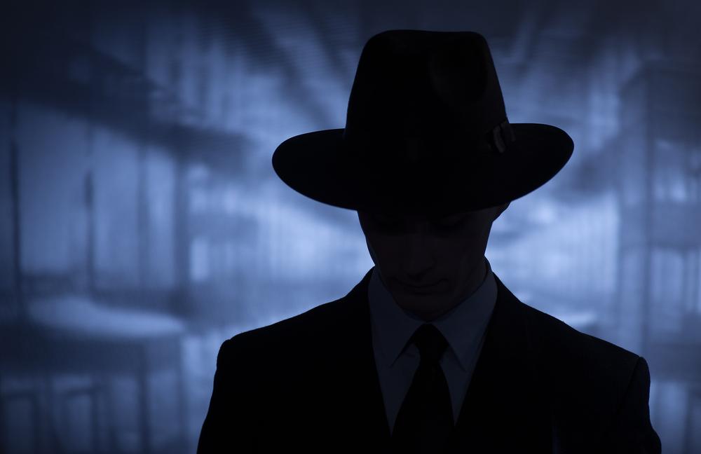 Silhouhette of a spy