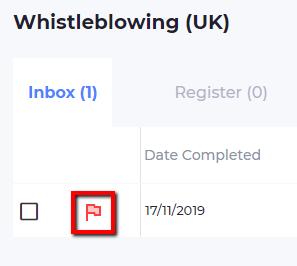 Screenshot showing red flags