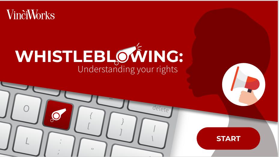 Whistleblowing training screenshot