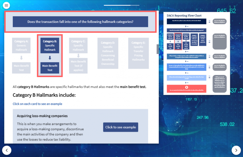 Screenshot of VinciWorks' DAC6 flowchart