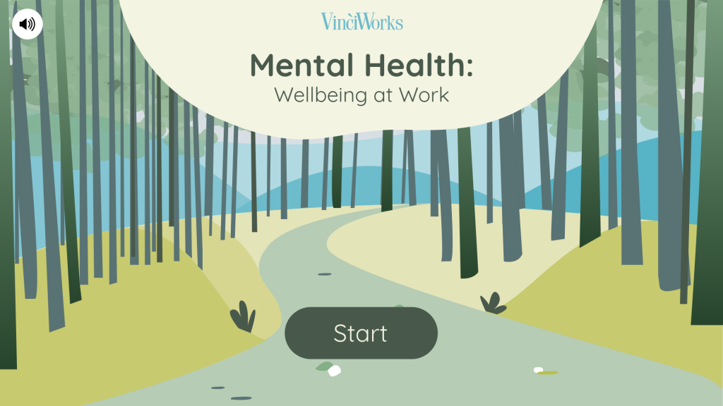 Screenshot of the mental health course