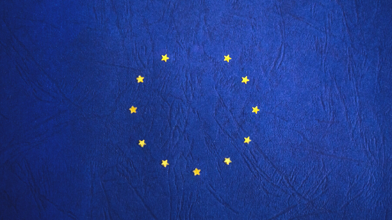 The EU flag with the UK's start missing