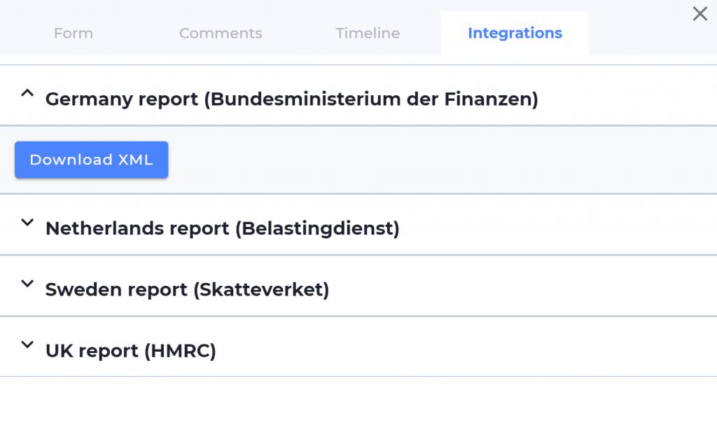 Screenshot of VinciWorks' DAC6 reporting tool