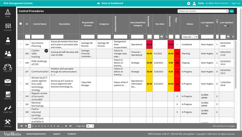Risk Management System Vinciworks